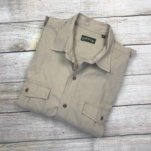 Men's ORVIS Bush shirt fishing hunting safari XXL